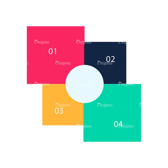 Flat Infographics Set 5 Vector Infographics 10 Clip Art - SVG & PNG vector