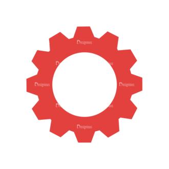 Flat Mobile Devices Concept Set 1 Vector Gear Clip Art - SVG & PNG vector