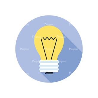 Flat Modern Icons Vector Set 3 Vector Bulb Clip Art - SVG & PNG vector