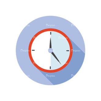 Flat Modern Icons Vector Set 3 Vector Clock Clip Art - SVG & PNG vector