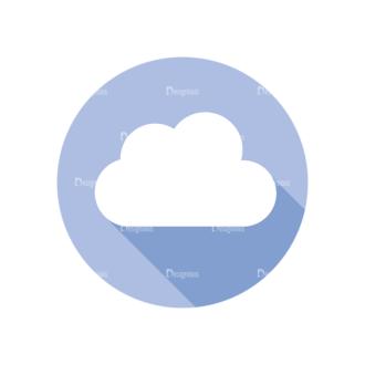 Flat Modern Icons Vector Set 3 Vector Cloud Clip Art - SVG & PNG vector