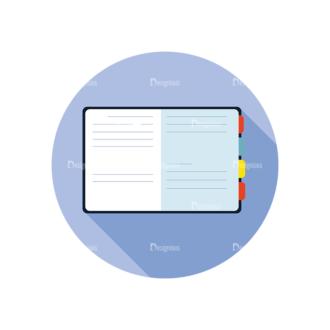Flat Modern Icons Vector Set 3 Vector Notebook Clip Art - SVG & PNG vector