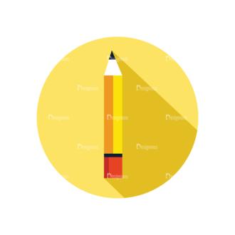 Flat Modern Icons Vector Set 3 Vector Pencil Clip Art - SVG & PNG vector