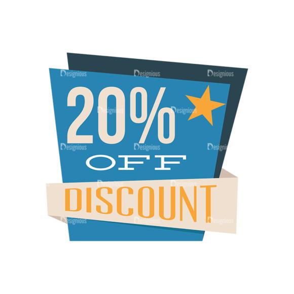 Flat Web Banners Set 5 Vector Discount 01 Clip Art - SVG & PNG vector