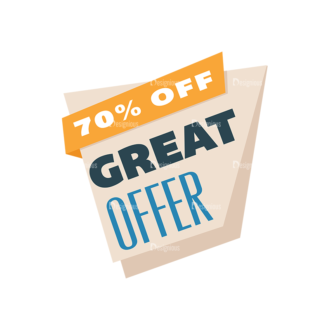 Flat Web Banners Set 5 Vector Discount 02 Clip Art - SVG & PNG vector