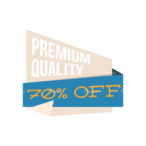 Flat Web Banners Set 5 Vector Discount 03 Clip Art - SVG & PNG vector