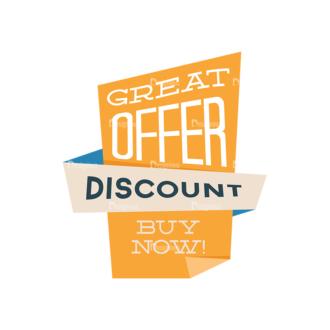 Flat Web Banners Set 5 Vector Discount 04 Clip Art - SVG & PNG vector