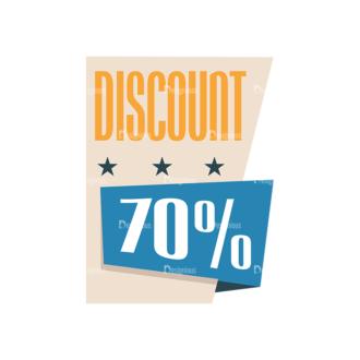 Flat Web Banners Set 5 Vector Discount 05 Clip Art - SVG & PNG vector