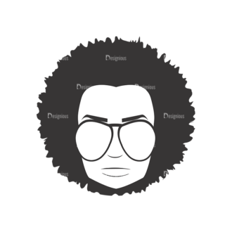 Funky Faces Pack 1 Preview Clip Art - SVG & PNG vector