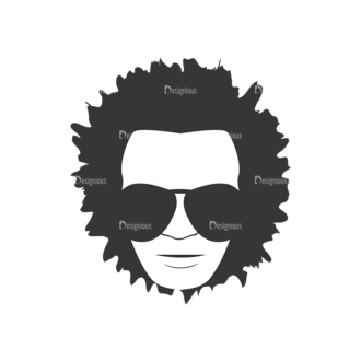 Funky Faces Pack 14 Preview Clip Art - SVG & PNG vector