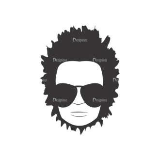 Funky Faces Pack 15 Preview Clip Art - SVG & PNG vector