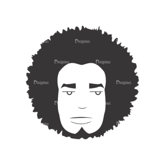 Funky Faces Pack 16 Preview Clip Art - SVG & PNG vector