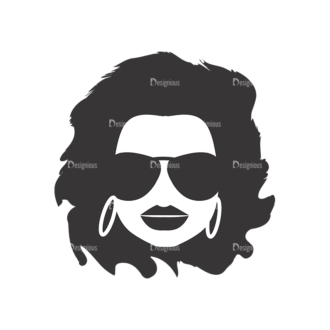 Funky Faces Pack 3 Preview Clip Art - SVG & PNG vector
