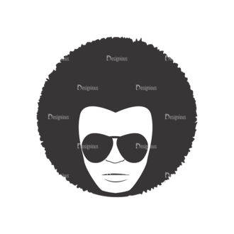 Funky Faces Pack 5 Preview Clip Art - SVG & PNG vector