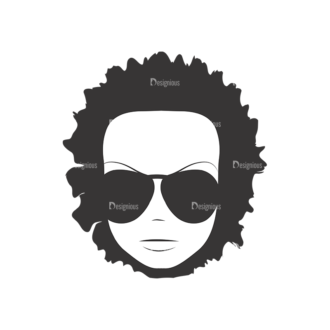 Funky Faces Pack 6 Preview Clip Art - SVG & PNG vector