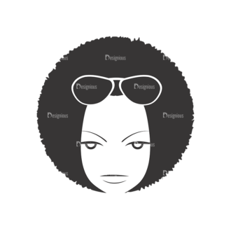 Funky Faces Pack 8 Preview Clip Art - SVG & PNG vector