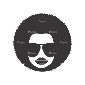 Funky Faces Pack 9 Preview Clip Art - SVG & PNG vector