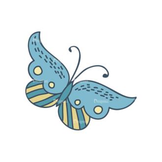 Garden Vector Set 2 Vector Butterfly 15 Clip Art - SVG & PNG vector