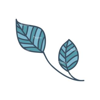 Garden Vector Set 2 Vector Leaves 14 Clip Art - SVG & PNG vector