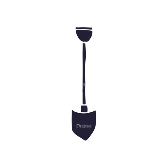 Gardening Tools Vector Elements Set 2 Vector Shovel Clip Art - SVG & PNG vector