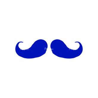 Gentleman Apparel Set 19 Vector Large Mustache 04 Clip Art - SVG & PNG vector