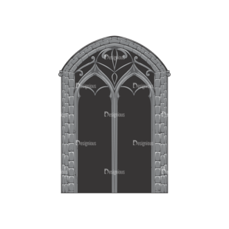 Gothic Vector 1 1 Clip Art - SVG & PNG vector