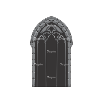 Gothic Vector 1 2 Clip Art - SVG & PNG vector