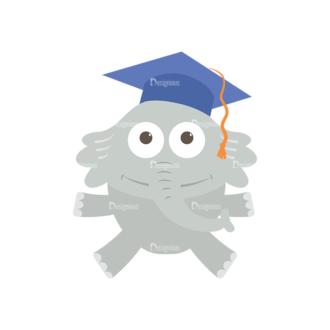 Graduation Vector Set 1 Vector Elephant 02 Clip Art - SVG & PNG vector