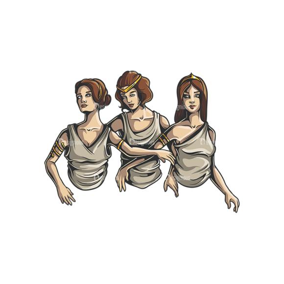 Greek Mythological Other God Vector 2 6 Clip Art - SVG & PNG vector