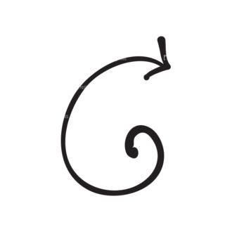 Hand Drawn Elements Vector Large Arrow 13 Clip Art - SVG & PNG vector
