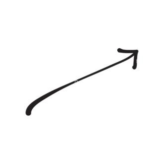 Hand Drawn Elements Vector Large Arrow 21 Clip Art - SVG & PNG vector