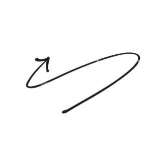 Hand Drawn Elements Vector Large Arrow 23 Clip Art - SVG & PNG vector