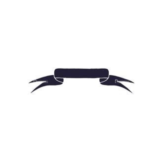 Hand Drawn Ribbons Vector Set 2 Ribbon 02 Clip Art - SVG & PNG vector