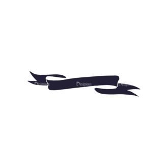 Hand Drawn Ribbons Vector Set 2 Ribbon 03 Clip Art - SVG & PNG vector