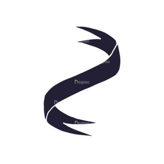 Hand Drawn Ribbons Vector Set 2 Ribbon 04 Clip Art - SVG & PNG vector