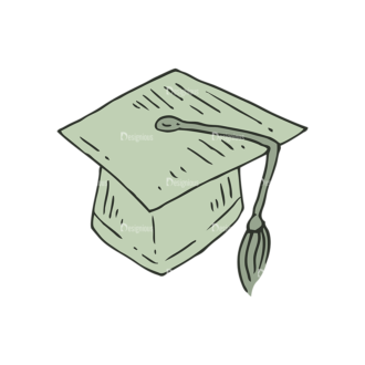 Hand Drawn School Vector Set 1 Vector Graduation Cap Clip Art - SVG & PNG vector