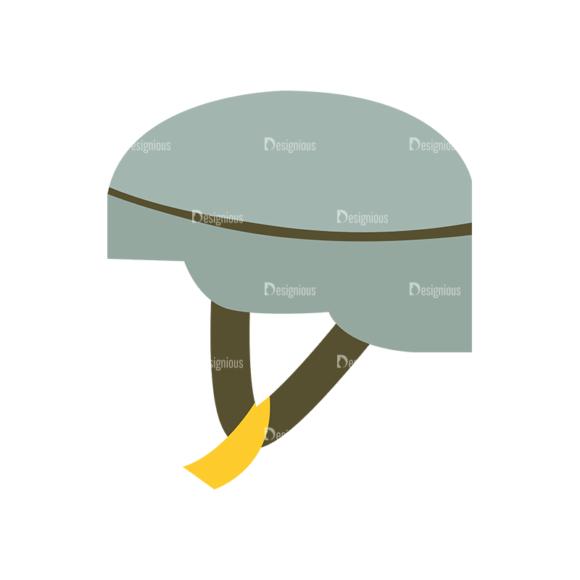 Hiking Equipment Vector Infographics Vector Helmet 5
