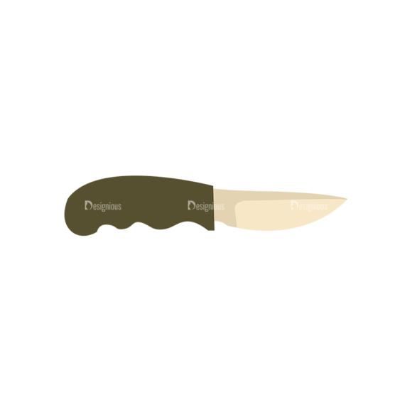 Hiking Equipment Vector Infographics Vector Knife 5
