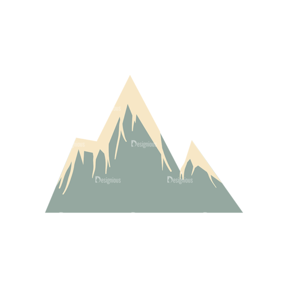 Hiking Equipment Vector Infographics Vector Mountain 03 Clip Art - SVG & PNG vector