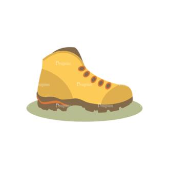 Hiking Equipment Vector Infographics Vector Shoes Clip Art - SVG & PNG vector