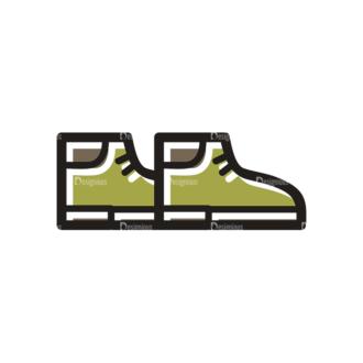 Hiking Vector Set 11 Vector Shoes Clip Art - SVG & PNG vector