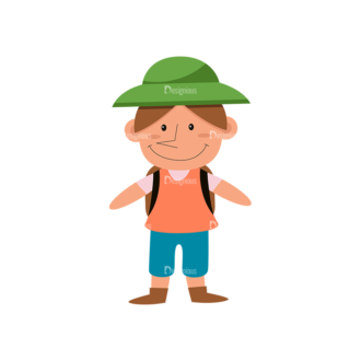Hiking Vector Set 9 Vector Kids Clip Art - SVG & PNG vector