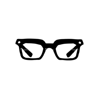 Hipster Apparel And Gadgets Set 10 Vector Eyeglass 02 Clip Art - SVG & PNG vector