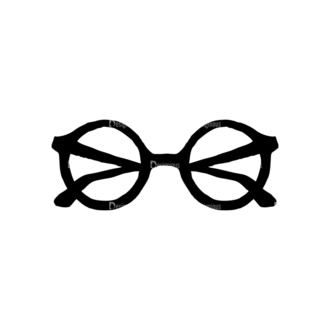 Hipster Apparel And Gadgets Set 10 Vector Eyeglass 03 Clip Art - SVG & PNG vector