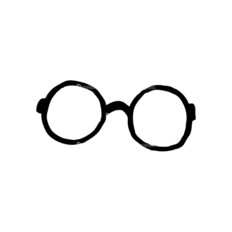 Hipster Apparel And Gadgets Set 10 Vector Eyeglass 04 Clip Art - SVG & PNG vector