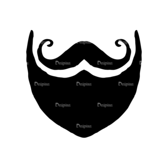 Hipster Apparel And Gadgets Set 10 Vector Mustache Clip Art - SVG & PNG vector