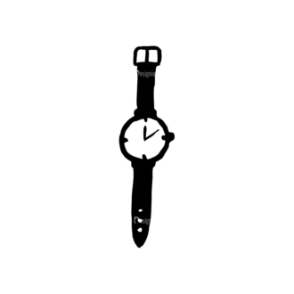 Hipster Apparel And Gadgets Set 10 Vector Watch Clip Art - SVG & PNG vector