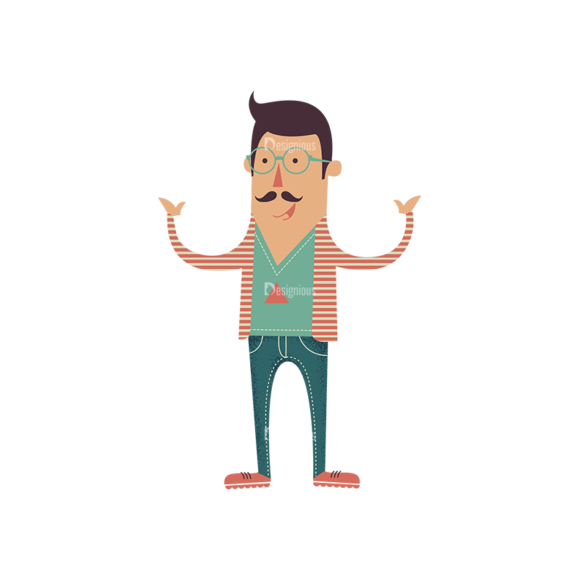 Hipster Vector Characters Set 1 Vector Character 02 Clip Art - SVG & PNG vector