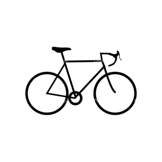 Hipster Vector Set 1 Vector Bike 21 Clip Art - SVG & PNG vector