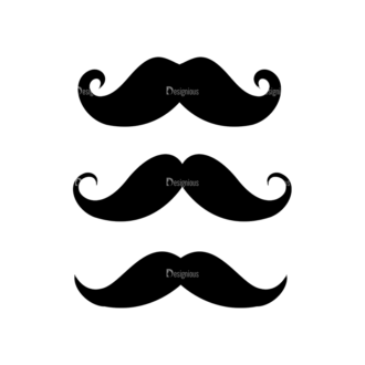 Hipster Vector Set 1 Vector Mustache 27 Clip Art - SVG & PNG vector